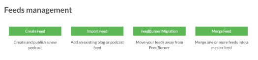 Feed dashboard buttons