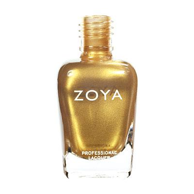 A bottle of ZOYA Goldie.