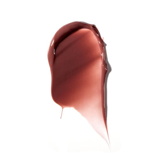 A lip gloss smear of ZOYA Hot Lips in Boudoir.