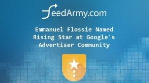 Emmanuel Flossie Named Rising Star at Google's Advertiser Community