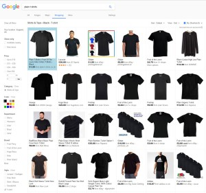 Google Shopping Filtered Results