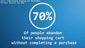 70 percent abandon checkout