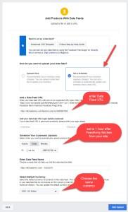 Facebook Data Feed Settings