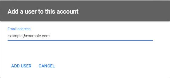 Google Merchant Center add user