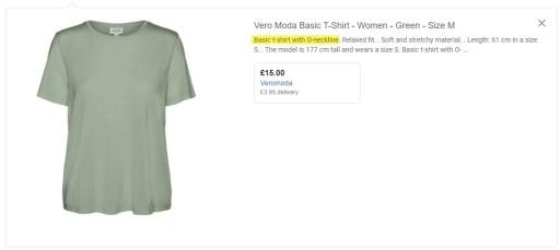 Google Shopping Description Product Type Focus