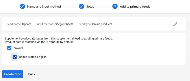 Select Crawler In Google Merchant Center
