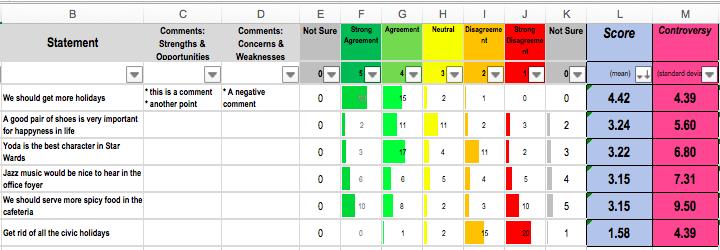 Feedback Frames spreadsheet example