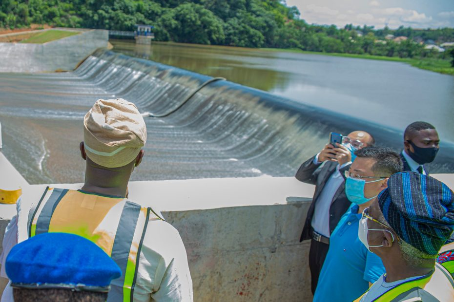 Picture of Eleyele Dam Rehabilitation by the Ibadan Urban Flood Management Project taken on June 01, 2020