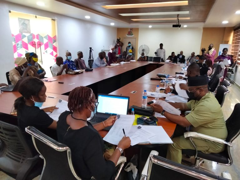 Picture of the hearing at the Oyo State Judicial Panel of Inquiry on April 1, 2021