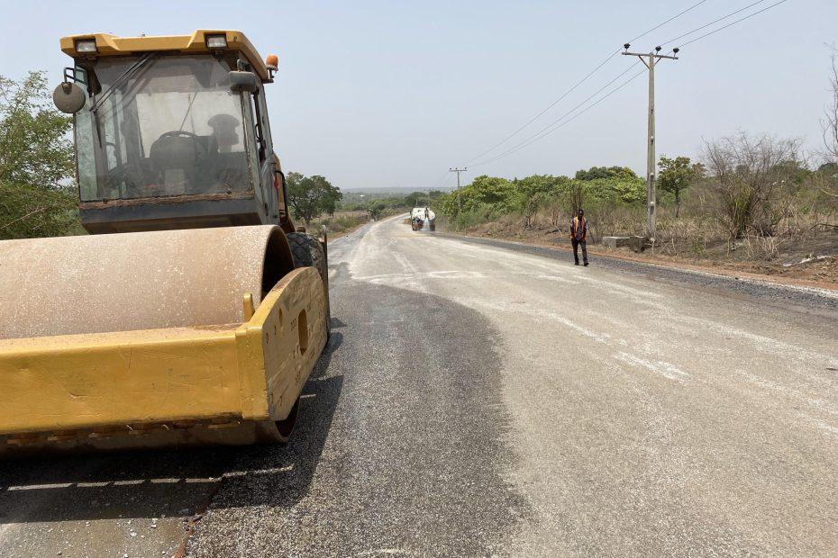 Picture of Saki-Ogbooro-Igboho Road taken on April 6, 2021