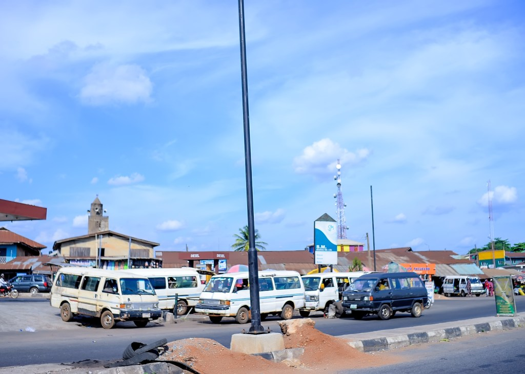 Picture of Light Up Oyo streetlight installation in Oyo Town