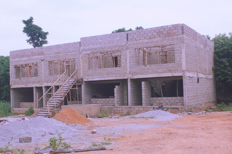 Picture of ongoing construction at Bodija Premium Estate taken on July 26, 2021