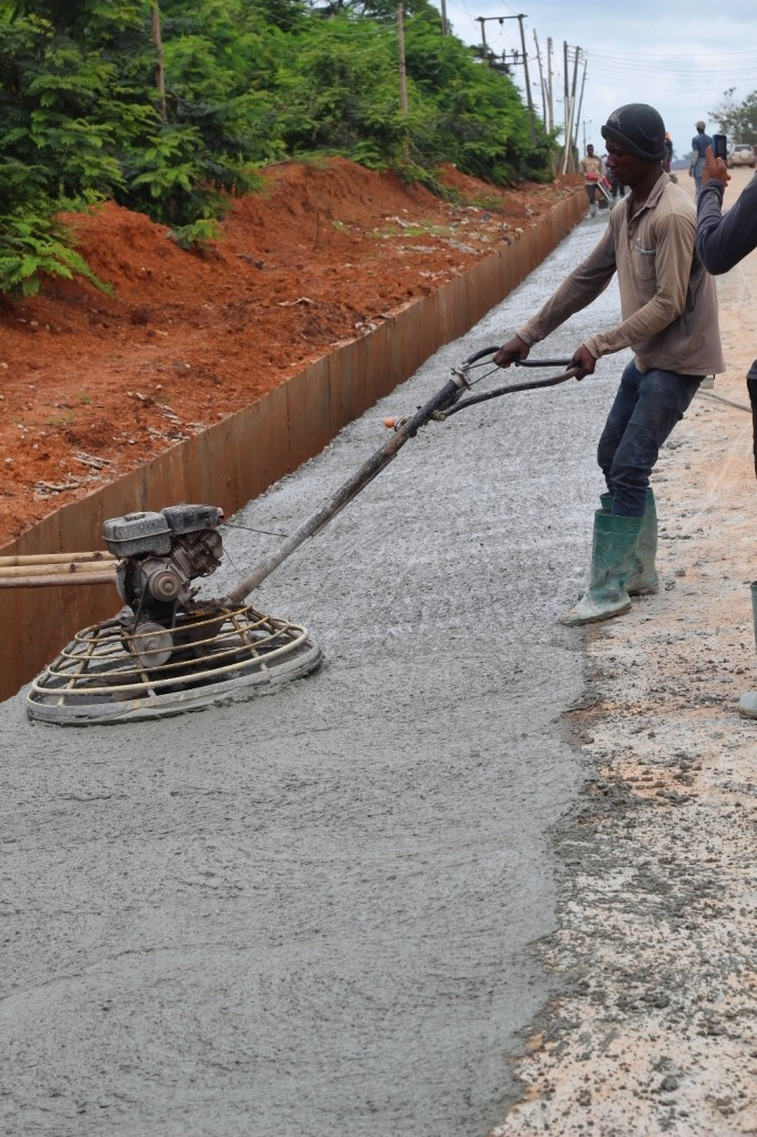 Picture of the reconstruction of Apete-Awotan-Akufo Road taken on August 23, 2021
