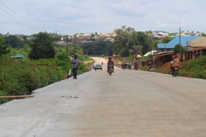 Picture of Apete-Awotan-Akufo Road reconstruction taken on August 23, 2021
