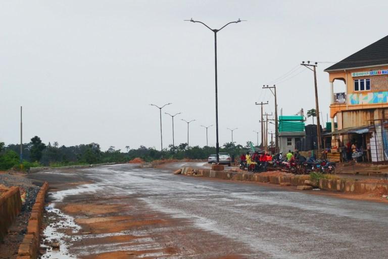 Picture of the Idi Ape-Basorun-Akobo-Odogbo Barracks Road reconstruction taken on August 24, 2021