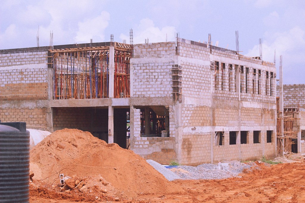 Picture of Ojoo Bus Terminal, Ibadan construction taken on July 10, 2021