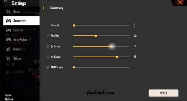 Sensitivitas Ruok FF Asli Auto Headshot 100% Work Terbaru 2020