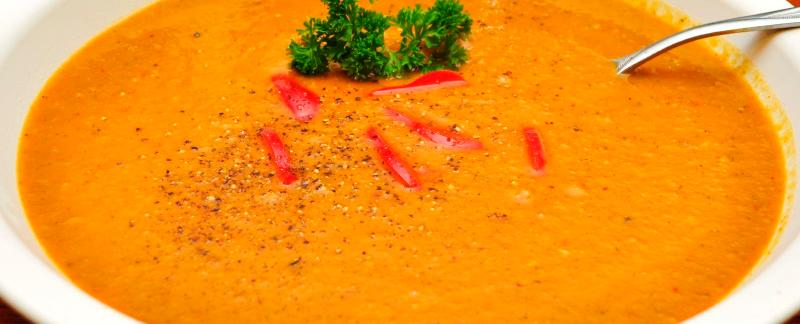 Sweet potato orange soup