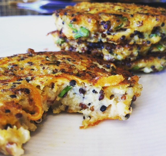 Cheese and Quinoa Cakes