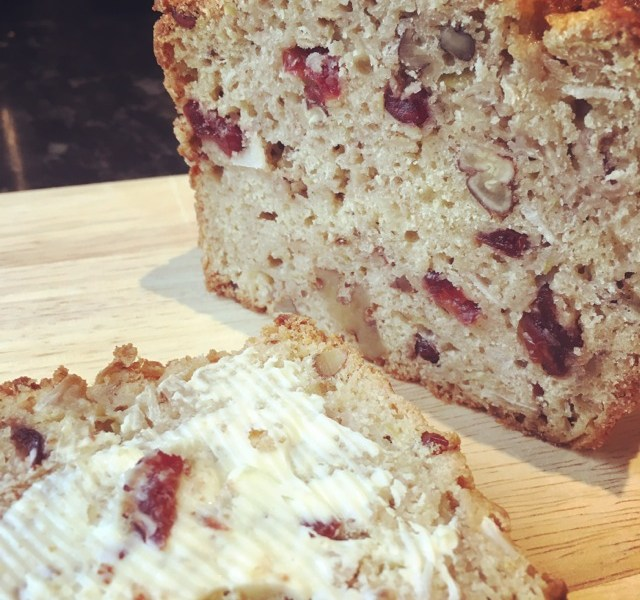 Apple, Nut, Cranberry and Coconut Loaf