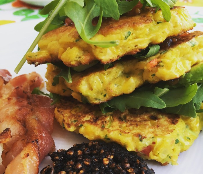 Spicy Coriander Corn Fritters
