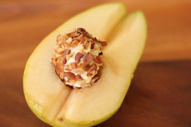 pear with cream cheese pecan ball