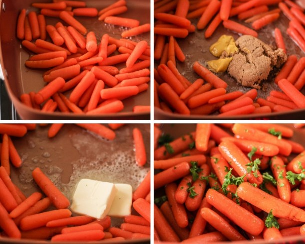 Steps for making cooked carrots