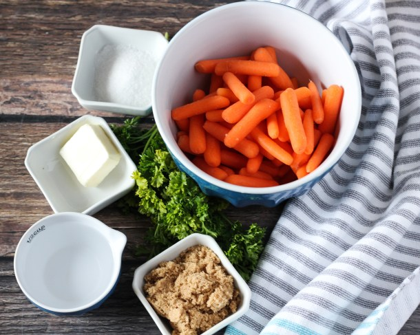 ingredients for cooked carrots