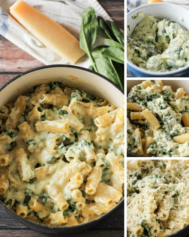 image collage for how to make pasta dish