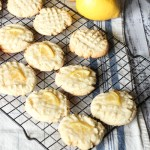lemon sugar cookies on a cooling rack
