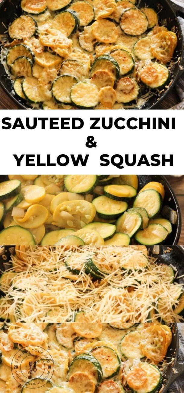 sauteed zucchini and yellow squash pinterest image