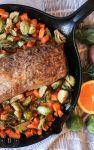 pork loin roast in cast iron pan