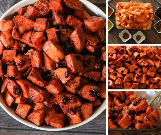 steps to make oven roasted sweet potatoes