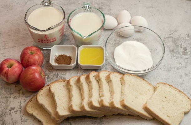 ingredients for bread pudding