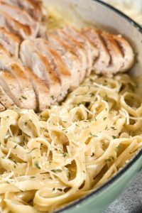 asiago cheese alfredo with chicken