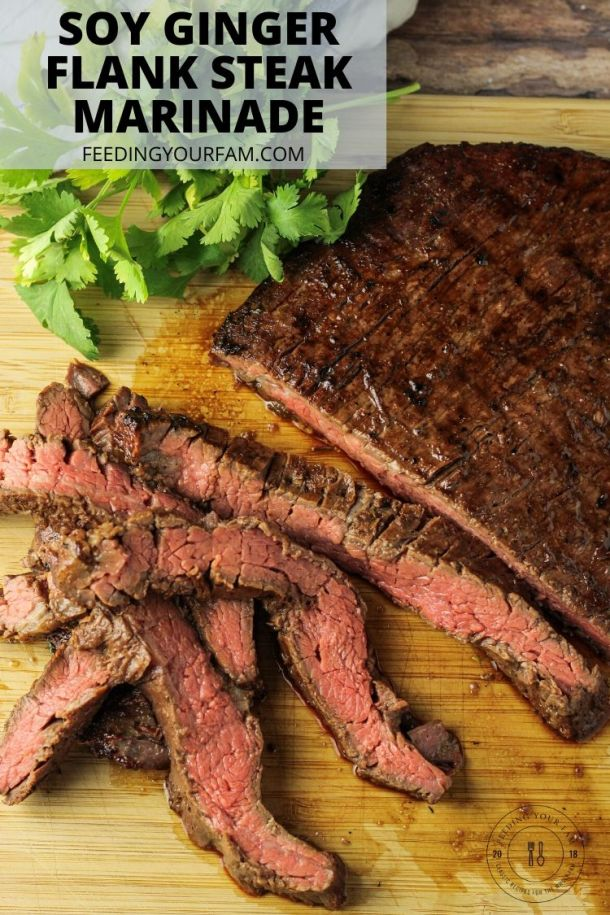 soy ginger marinaded flank steak