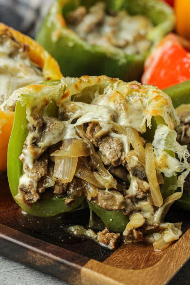 philly cheese steak stuffed pepper