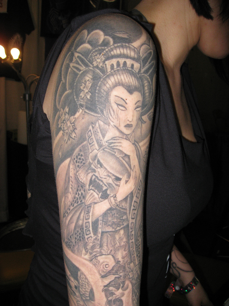 Beautiful Geisha Tattoos Designs