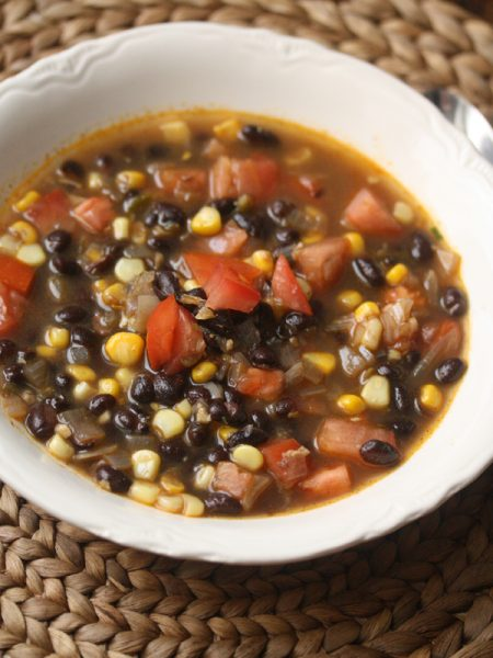 Summer Black Bean Soup Recipe With Corn And Tomatoes