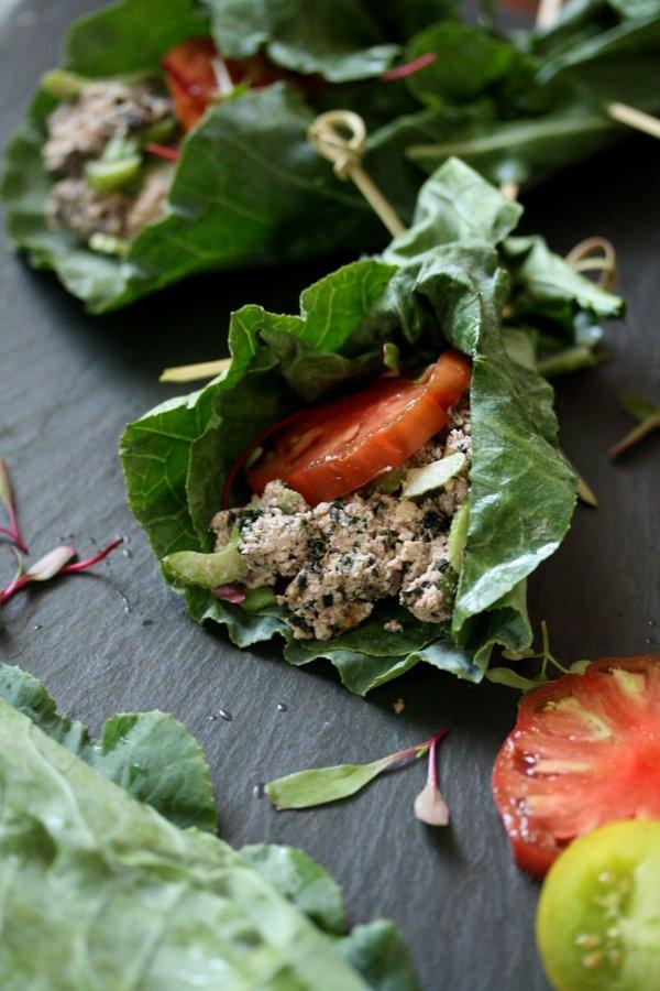Vegan Tuna Salad Collard Green Wraps | Gluten-Free Recipe