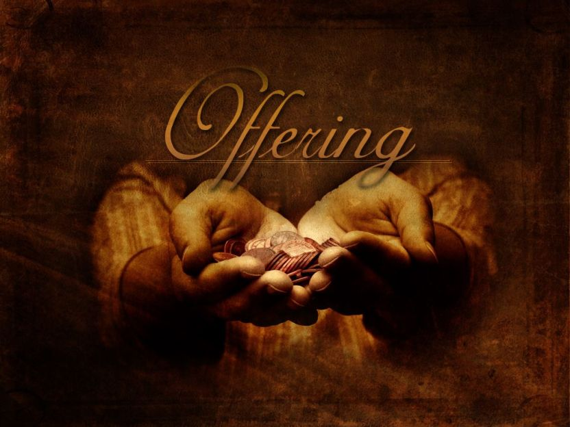 Offering an act of giving - Feed Me The Word Today
