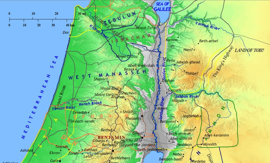 Tribes Of Isreal map - Feed Me The Word Today