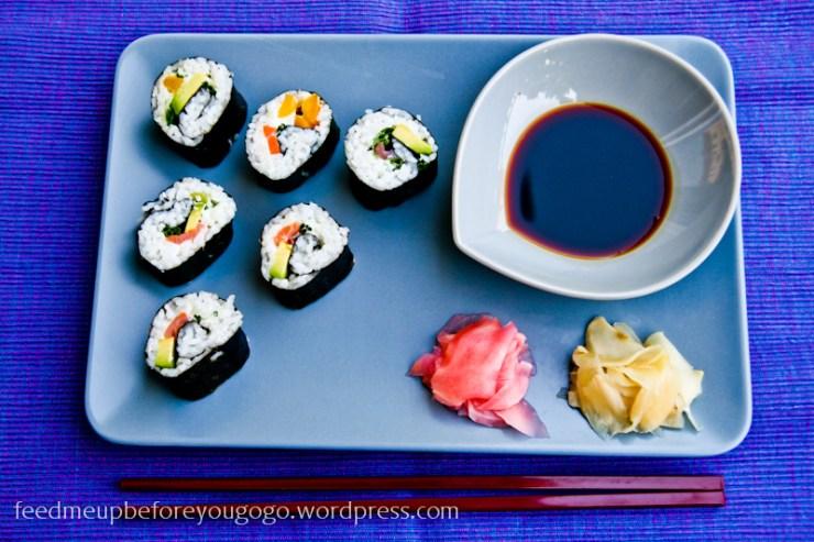 Vegetarisches Sushi selbst gemacht