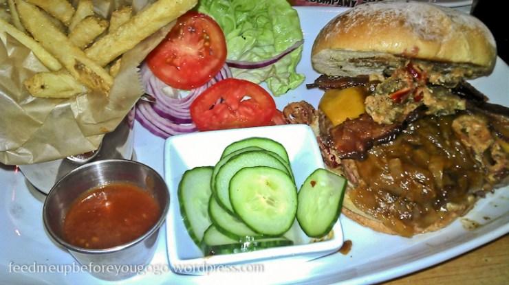 House of Blues Orlando Florida Burger und Pommes