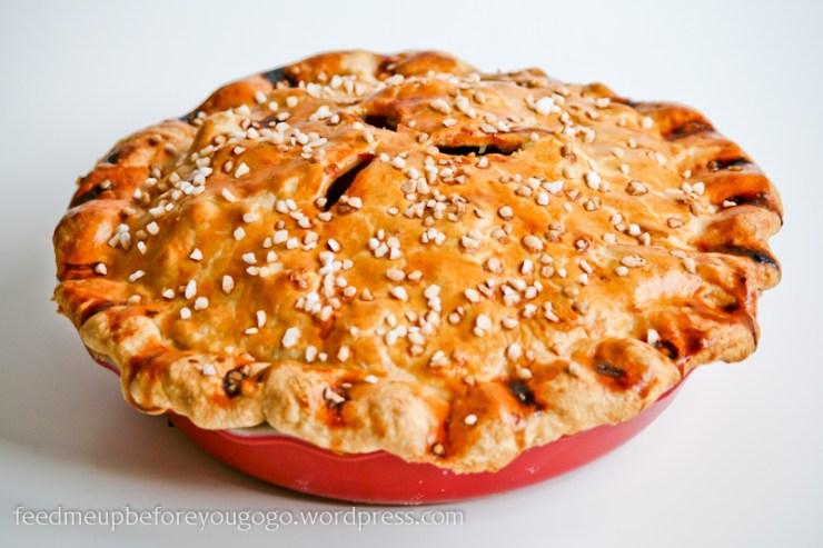 Apple Pie amerikanischer Apfelkuchen mit Walnüssen Rezept