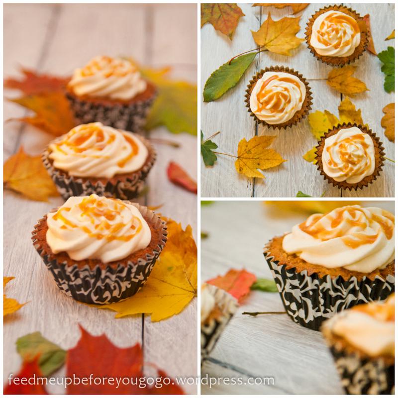 Apfel-Karamell-Cupcakes