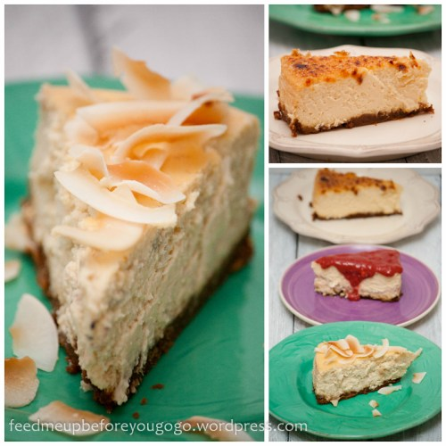 Triple-cheesecake Creme brulee Himbeer Banane-Kokos-4