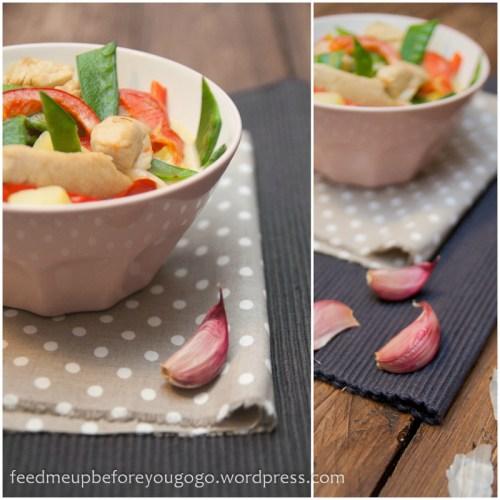 Putengulasch mit Kartoffeln, Curry und frischem Gemüse-3