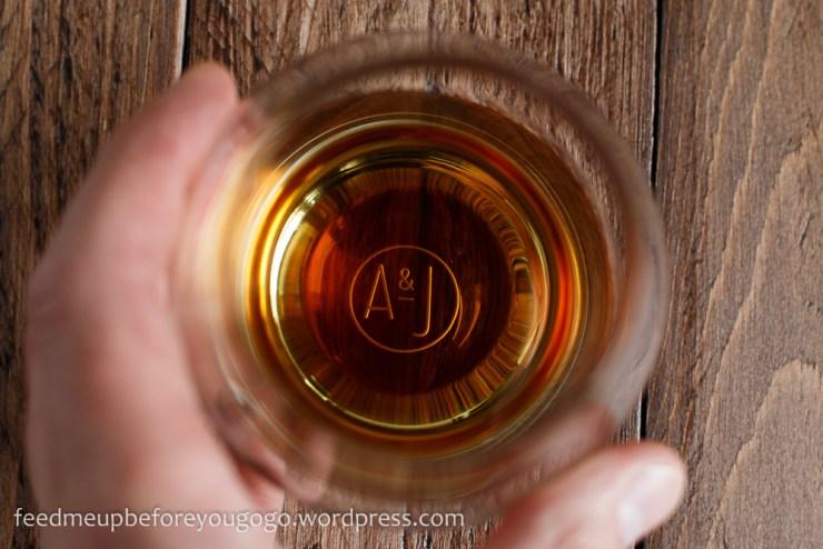 Lagavulin Whisky im Glas für Scottish Carbonara