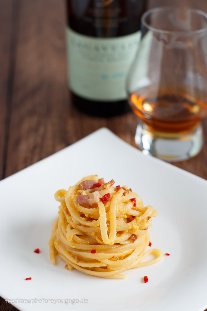 Scottish Carbonara - Nudeln mit Lagavulin Whisky
